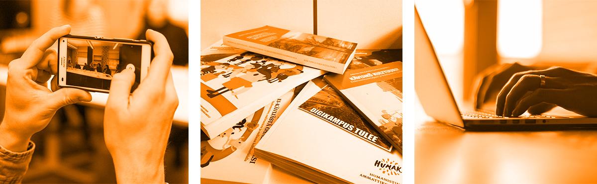 Humak julkaisee niin kirjoja kuin videoita ja blogi-päivityksiä.