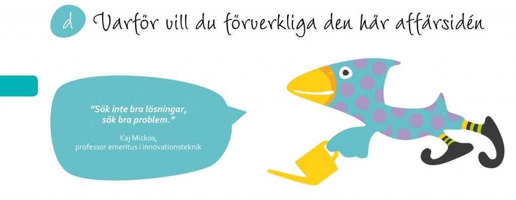Luovuus ja liiketoiminta-opas ruotsiksi