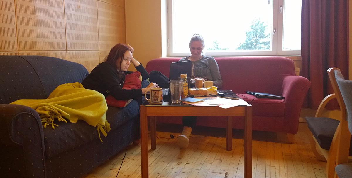 Sanni Hantula ja Elisa Brusila