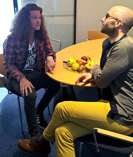 David Stevenson tapasi tammikuussa Skotlantiin tulevan oppilaansa