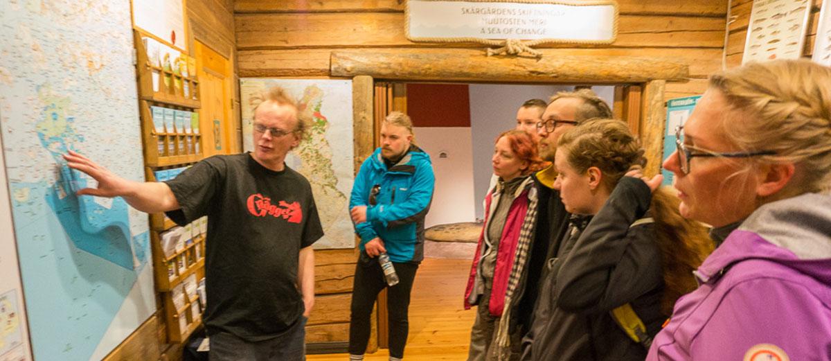 1.Ruotsinkielinen esittely Tammisaaren luontokeskuksessa