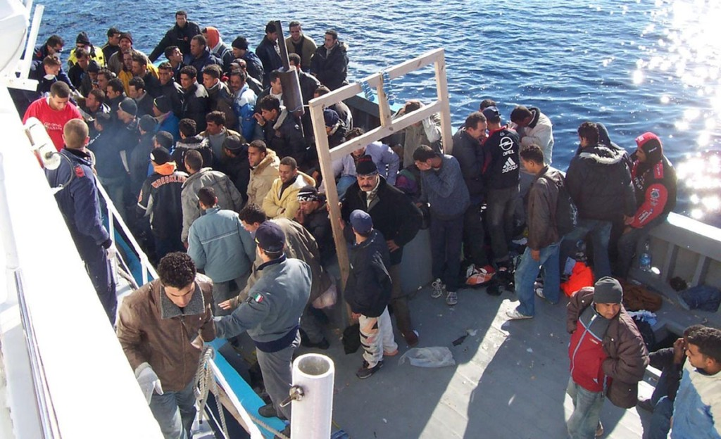 Pakolaisia Sisiliassa