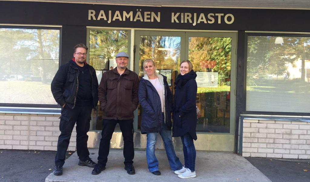 Nurmijärven #yhteisöpedagogi #monimuoto opiskelijoita #kirjasto