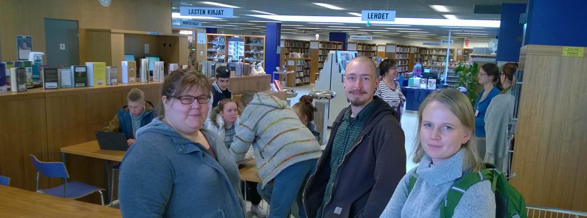 Klaukkalan kirjasto on yhteisöpedagogien yhteistyökumppani