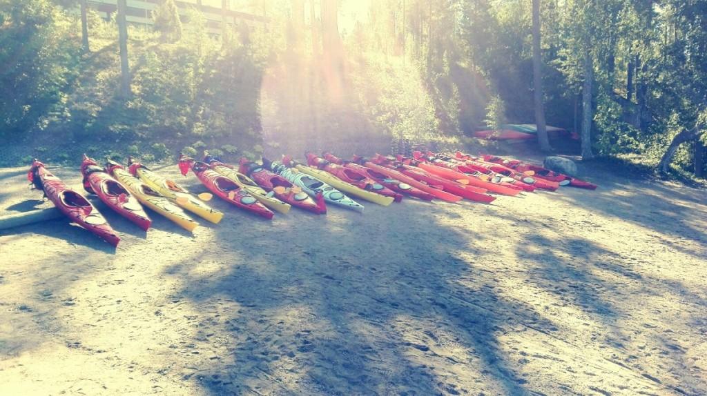 Erasmus students Adventure education Kayaking