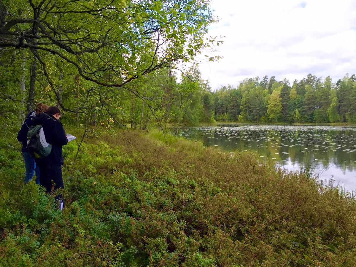 Adventure Sports 2015 in Humak Nurmijärvi. The nature is turning to autumn.