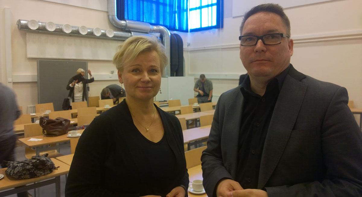 Ulla Lindqvist ja Timo Heikkala