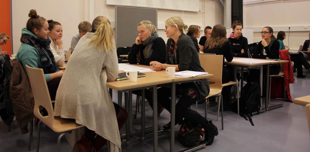 Teemapäivän aikana keskusteltiin globaalikasvatuksesta järjestöjen edustajien kanssa.