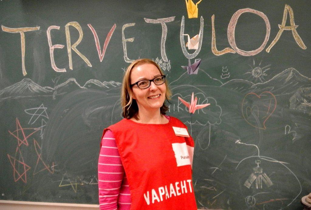 Katri Mäen opinnäytetyö käsitteli vapaaehtoistyötä vastaanottokeskuksissa