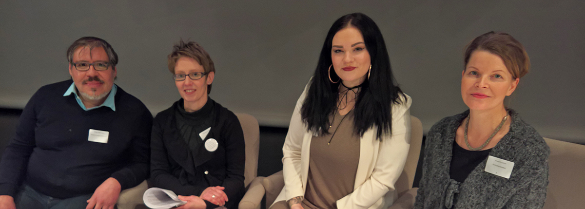 Ihmisoikeusseminaari 12.12.2016Mikko Cortés-Tellez, Rosa Puhakainen-Mattila, Annika Ojala, Kristina Kouros