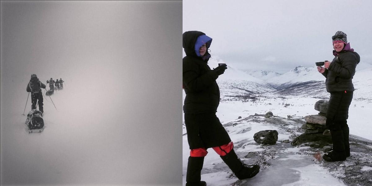 Humak Seikkailukasvatus lumivaellus