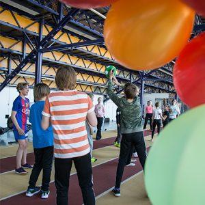 """""""Sata omenapuuta - Kasva Suomessa"""" tapahtumassa nuoret pääsivät tutustumaan toisiinsa liikunnan kautta."""
