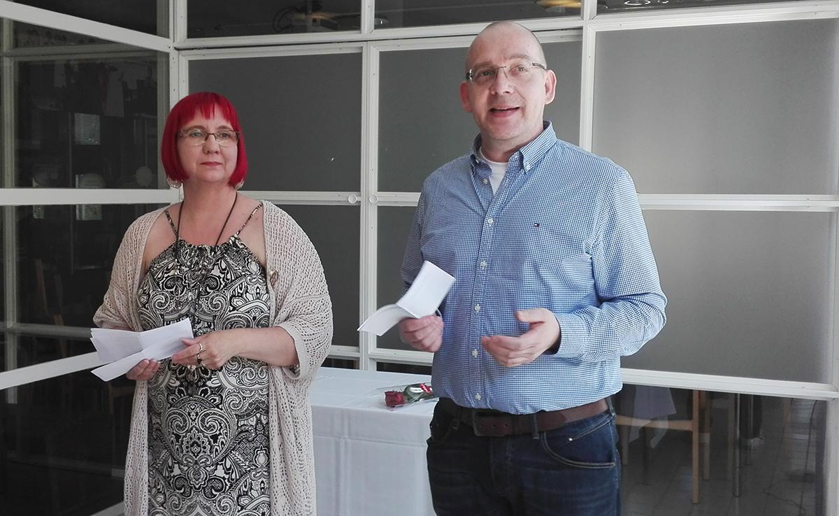 Jaana Petäjoki ja Jarmo Laitinen, yhteisöpedagogeja ylempi AMK