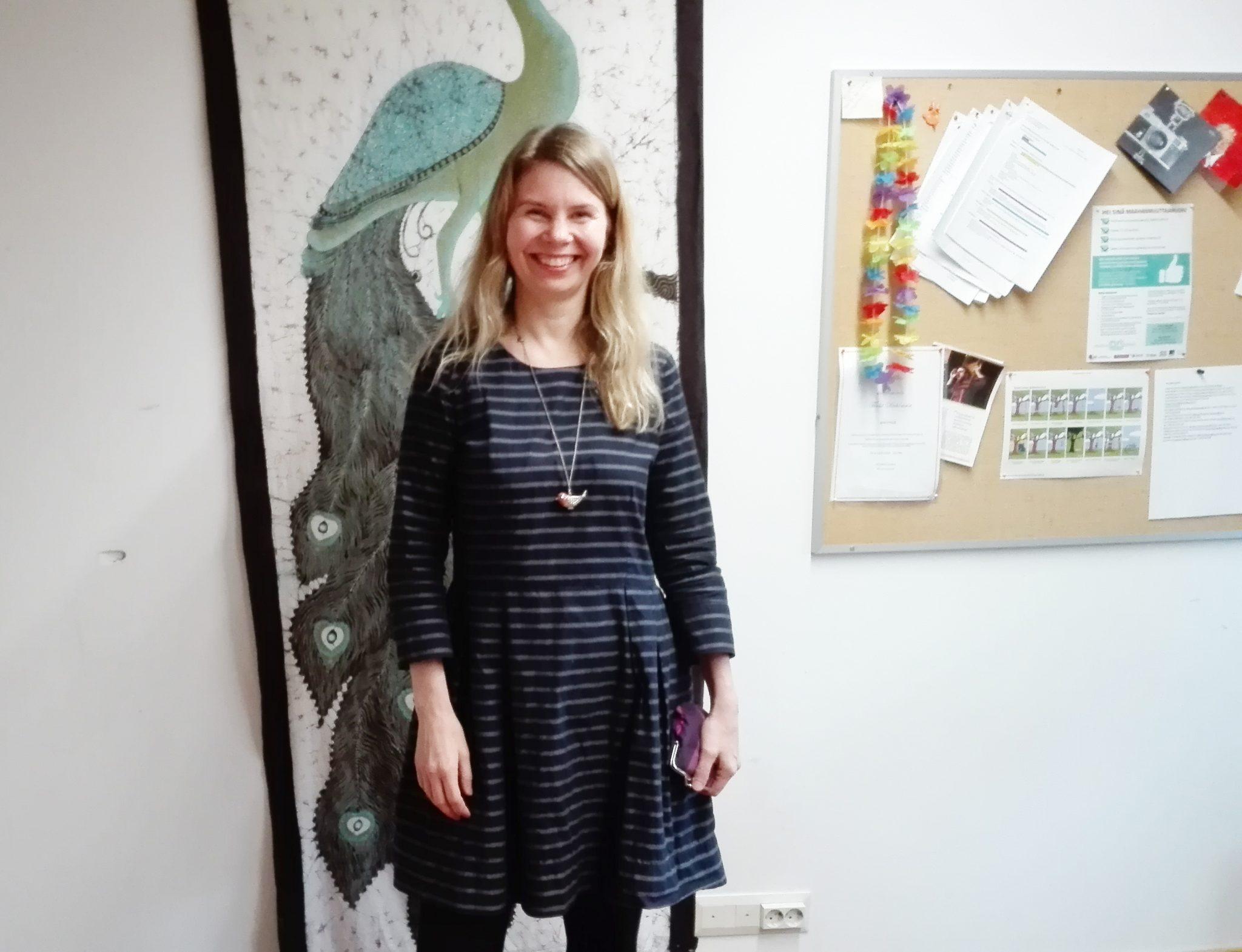 Minna Halmetoja opiskelee kulttuurituotannon monimuotokoulutuksessa