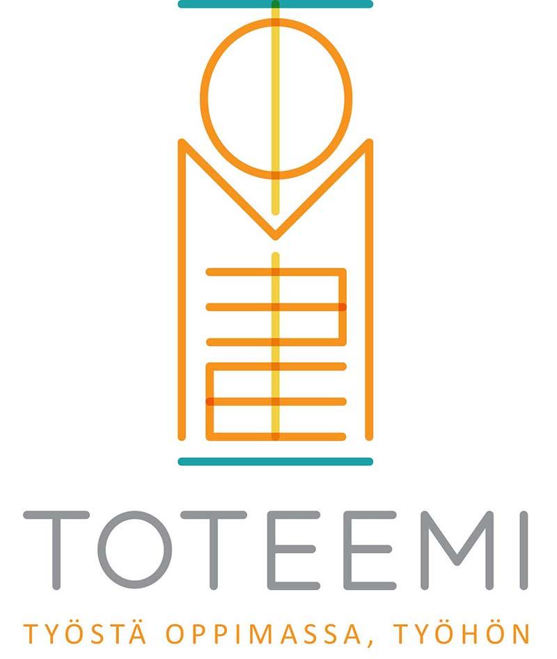 Toteemi logo + slogan