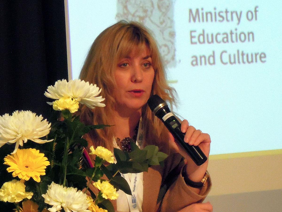 Kuva 2. Euroopan neuvoston demokratiaosaston pääjohtaja Snežana Samardžić-Marković
