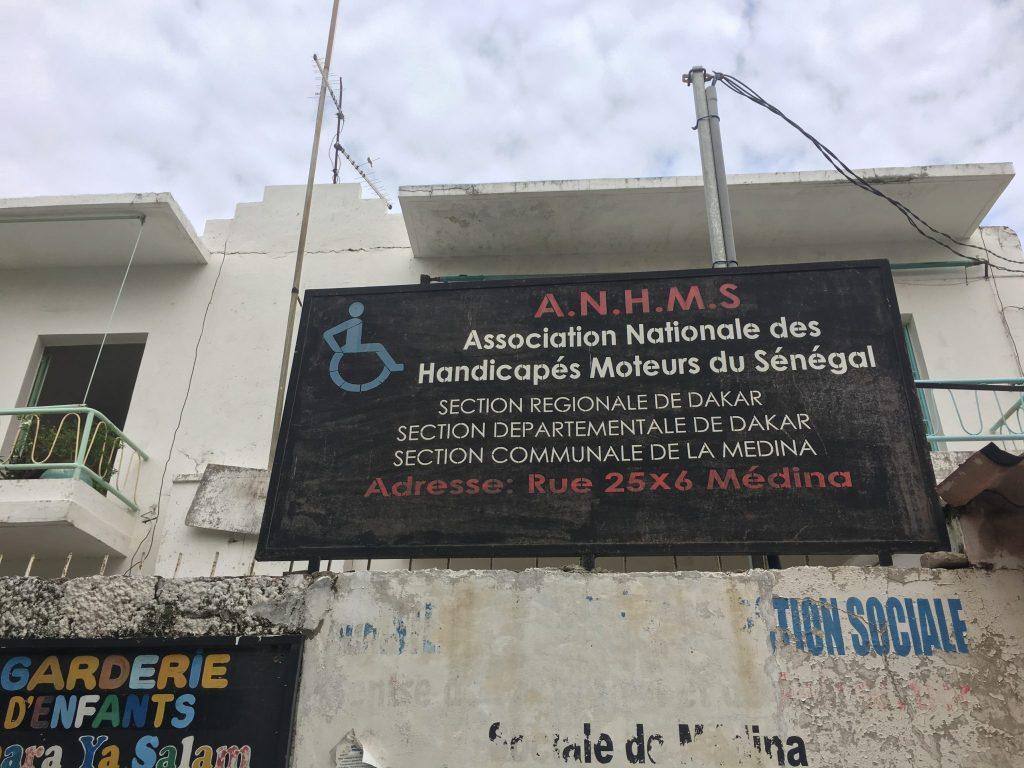 Senegalin vammaisjärjestöjen katto-organissation päämaja.
