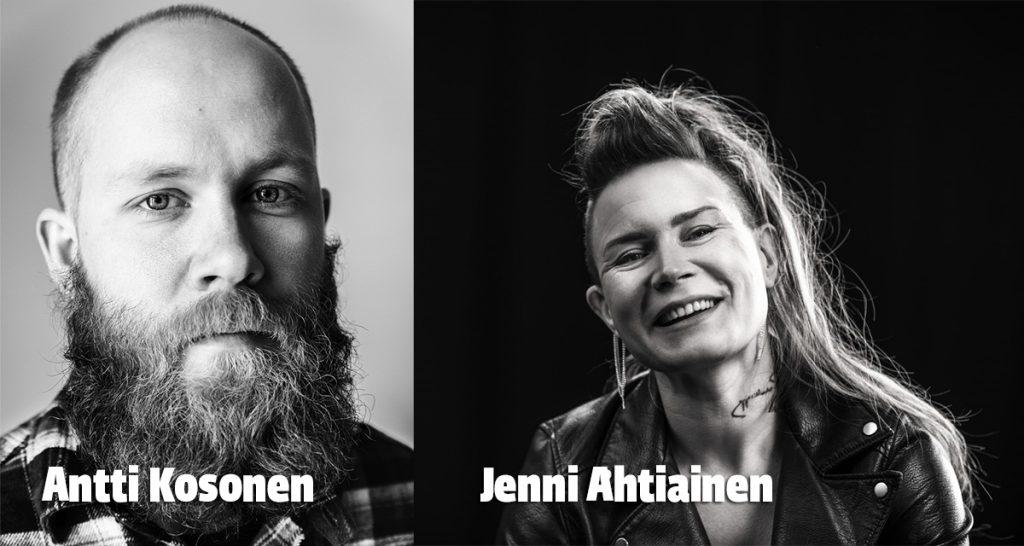 Antti Kosonen ja Jenni Ahtiainen Creven seminaarissa.