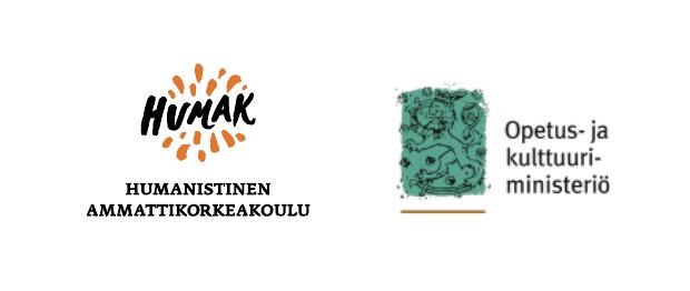 Logot: Humanistinen ammattikorkeakoulu ja Opetus- ja kulttuuriministeriö.