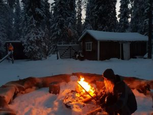 Lapland Safaris fire
