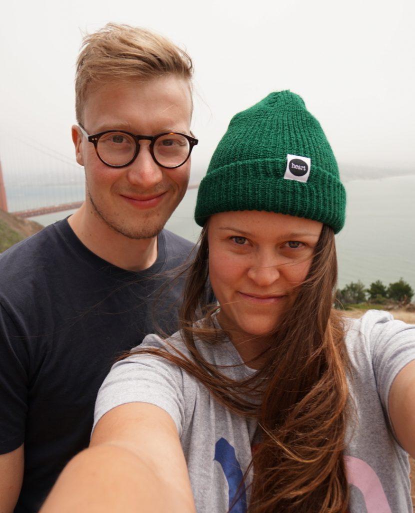 The filmmaker Erika with her boyfriend