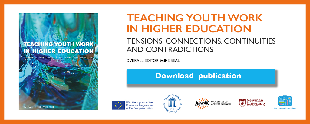 Teaching youth work in higher education -publications download banner.