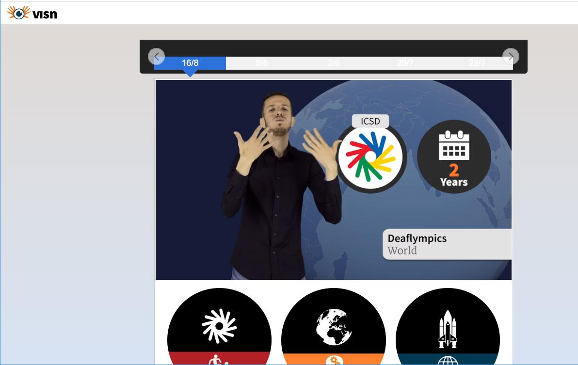Visual Sign News on yksi esimerkki tulkki (ylempi amk)-koulutuksen kehittämistehtävästä.