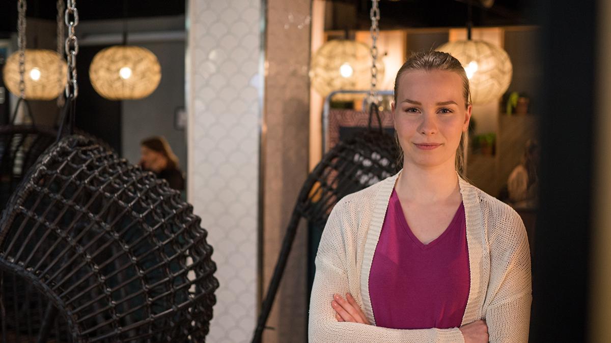 Roosa Honkaniemi, tulkki-opiskelija Kuopiosta.