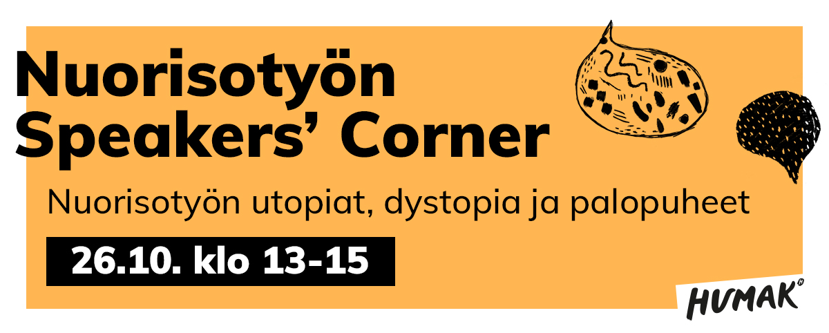 Nuorisotyön Speakers' CornerNuorisotyön Speakers' Corner.