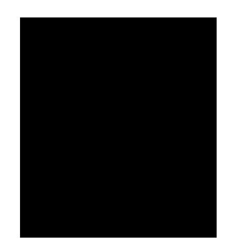Raidallinen kukkaruukku, josta kasvaa kolmilehtinen kasvi.