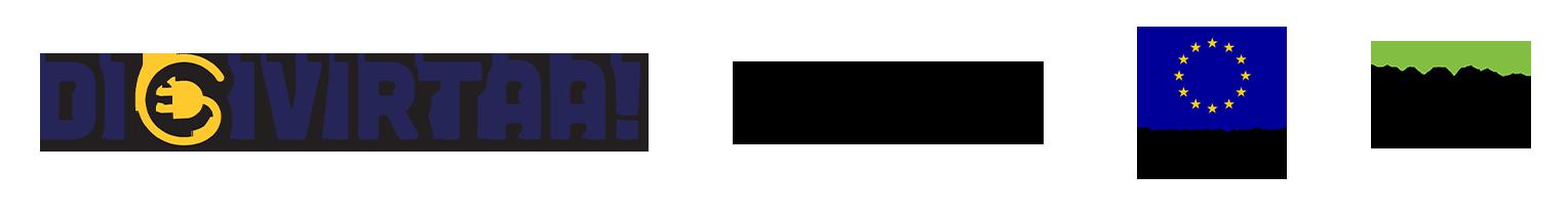 Logot: Digivirtaa, Humak, ESR ja Vipuvoimaa EU:lta.