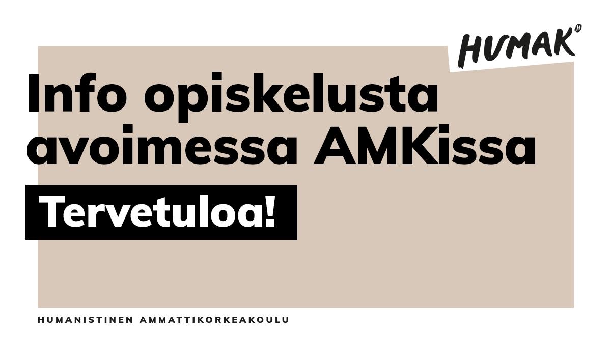 Avoimen AMKin info 30.7. – katso tallenne!
