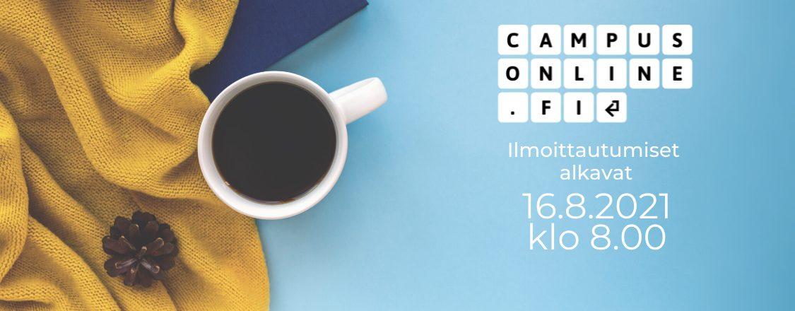 CampusOnlinessa laaja valikoima verkko-opintoja – ilmoittautuminen opintoihin alkaa 16.8.2021