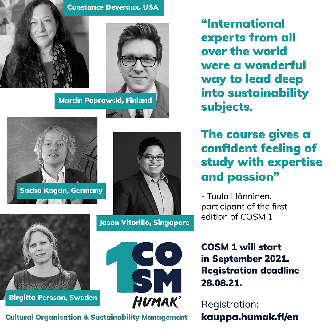 Cosm 1: Testimonial 2 presenting experts in the course. Testimonial praises the course.