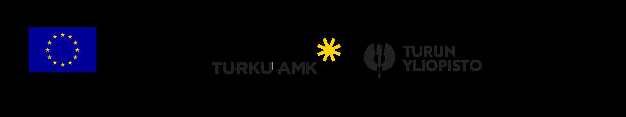 Logot: ESR, Vipuvoimaa Eu:lta, Turun AMK, Turun yliopisto ja Humak.