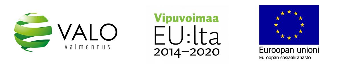 Valovalmennus, Vipuvoimaa EU:Lta ja ESR-logot.