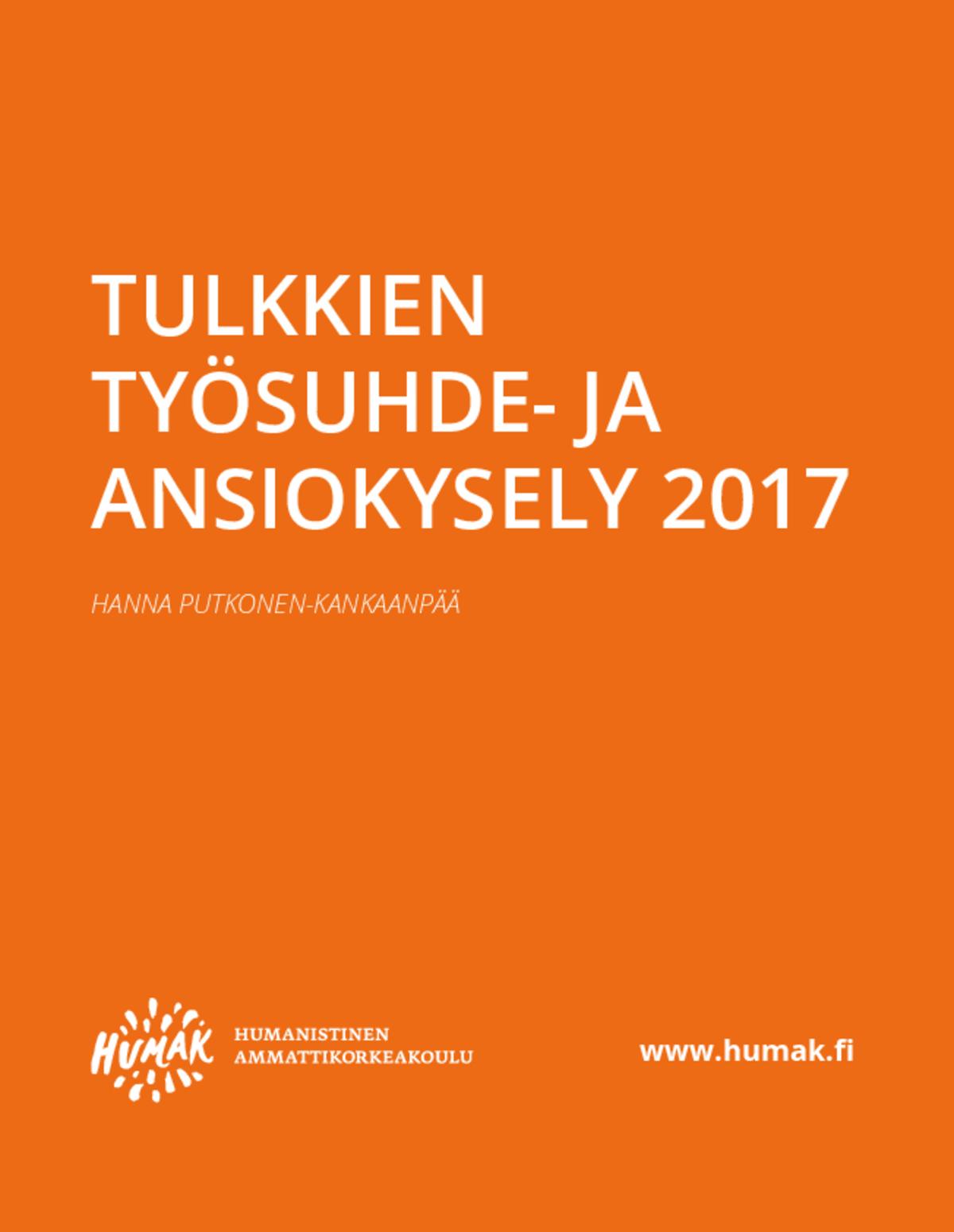 Tulkkien työsuhde- ja ansiokysely 2017